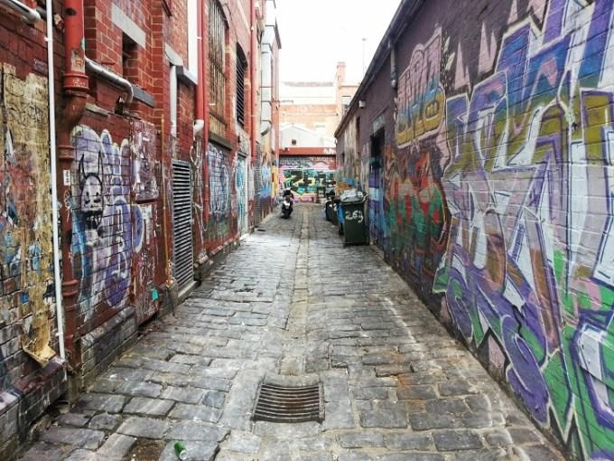 Arte nas ruelas de Melbourne.