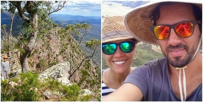 Eu e ele amamos fazer trilhas na natureza. Essa foi no Cathedral Range State Park que fica a uma hora e meia daqui de Melbourne. Janeiro de 2015.