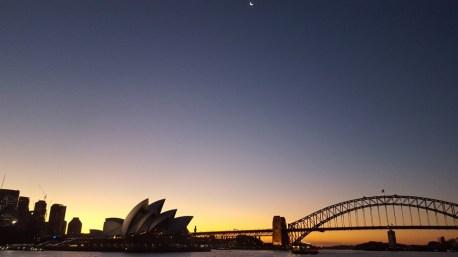 Foto tirada do ferry pra Manly; é linda demais a enseada de Sydney!