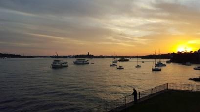 A enseada de Sydney é linda demais!