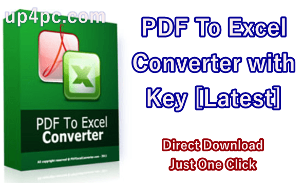 PDF To Excel Converter 4.8.9 with Key [Latest]
