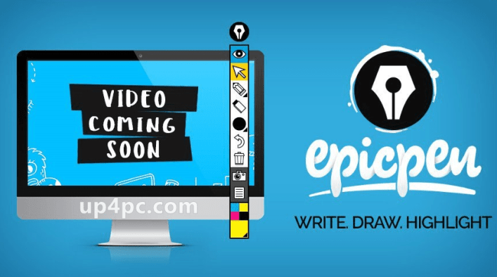 Epic Pen is a fun application that gives you the possibility to draw on the screen with a pen, regardless of the environment, such as desktop, active application, the Start menu, taskbar, or anything else. It also supports a highlighter, eraser, screenshot grabber, and keyboard shortcuts. No previous experienced with graphic software is necessary. Designed with care What makes Epic Pen the worlds leading live annotation tool? EASY TO USE No complicated menus Simple interface with a clean visual style and no confusing buttons or options. Epic Pen is for everyone! HOTKEY SUPPORT Customise to suit you Fully supports custom hotkeys that can be used in conjunction with standard software hotkeys. LIGHTWEIGHT INSTALL With no performance impact Tiny lightweight installer with no hidden junk, perfect for businesses and academic computers. CLICK-THROUGH Move seamlessly between software Once you've made an edit to the screen you can easily return to your desktop. PEN PRESSURE Great for Wacom devices Has full pen pressure support for brush size when used with drawing tablets and other pressure input devices. TOUCH COMPATIBLE Multi-touch input The ultimate companion for touch-enabled devices including interactive whiteboards and Windows tablets.