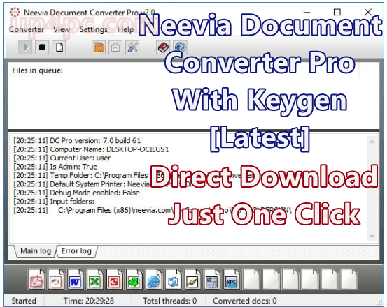 Neevia Document Converter Pro 7.0.0.82 Crack Keygen [Latest]