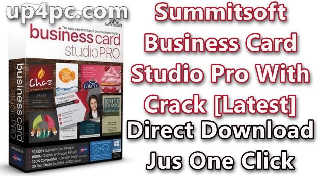 Summitsoft Business Card Studio Pro 6.0.4 With Crack [Latest]