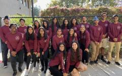 The 2019-2020 Bollywood dance team, Guzaarish, poses for a photo before their weekly Friday afterschool practice. Guzaarish means