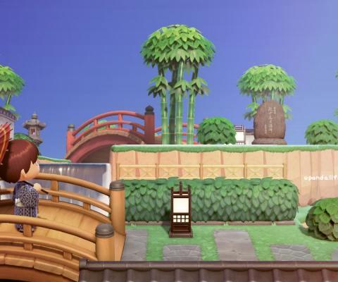 あつ森で和風の島を作ってみた(夢番地公開中)