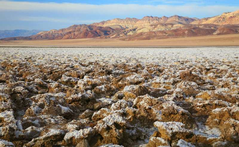 Death Valley attractions - Devil's Golf Course