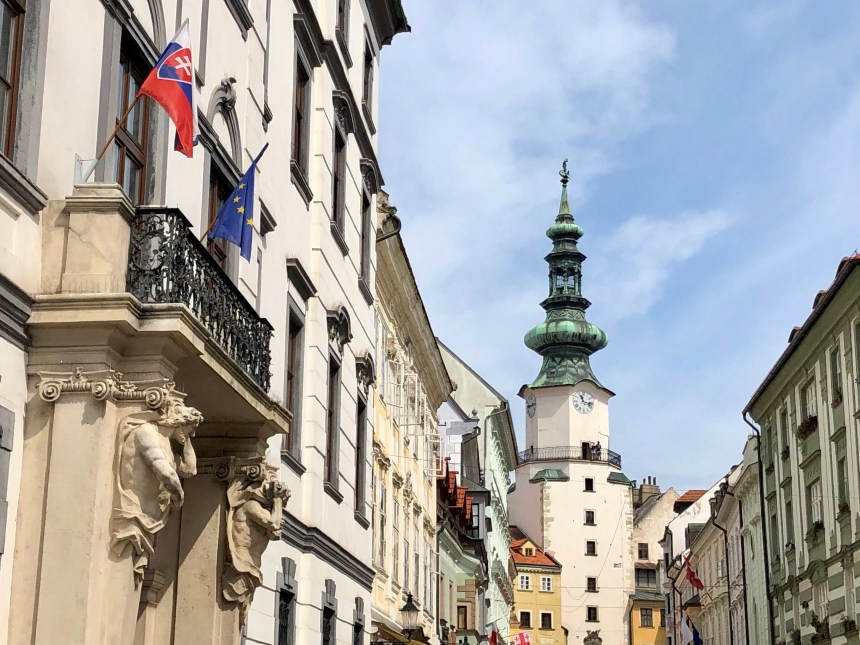 St. Michael's Gate, a must-see in Bratislava