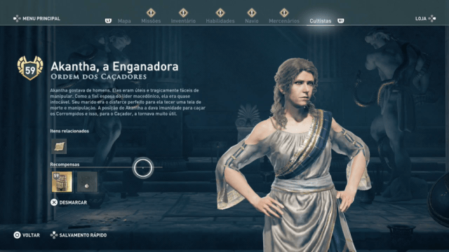 Assassin's Creed Odyssey - Legado Akantha, a Enganadora