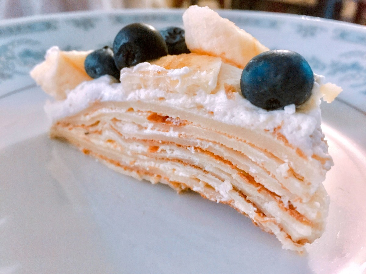 Mille Crêpe Cake up close