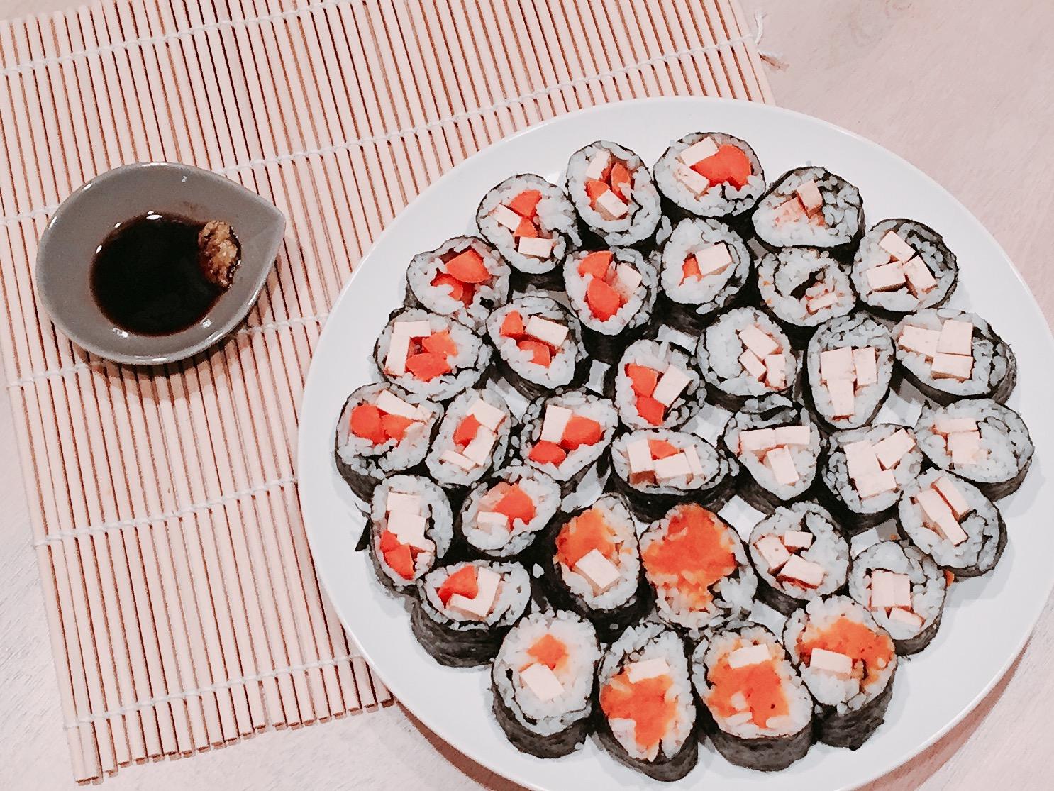 Teriyaki Tofu and Veggie Sushi