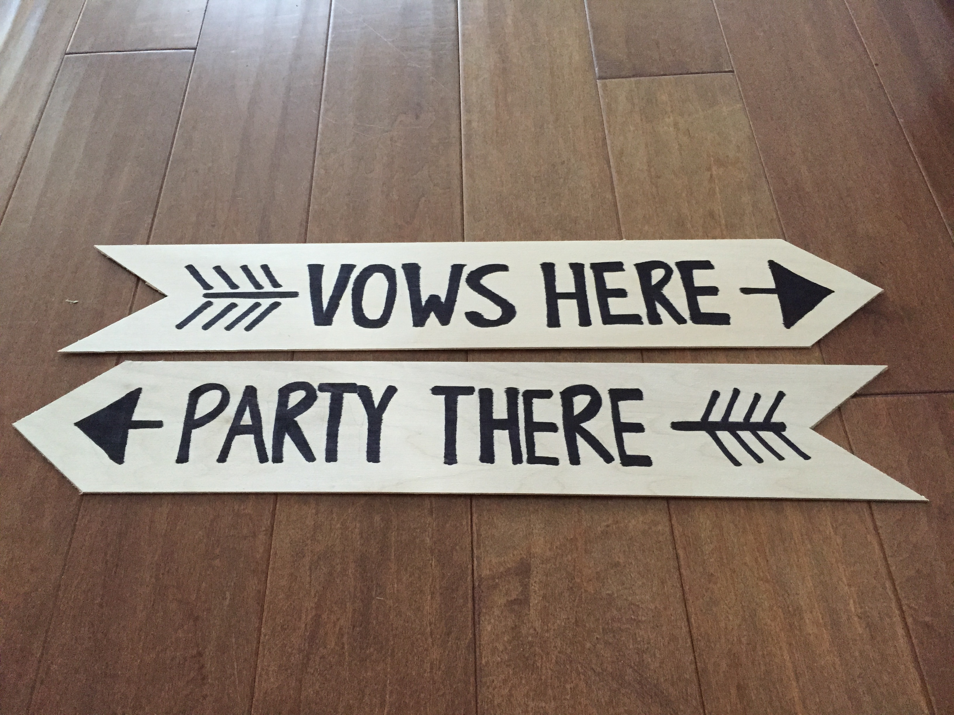 DIY Wedding Sign