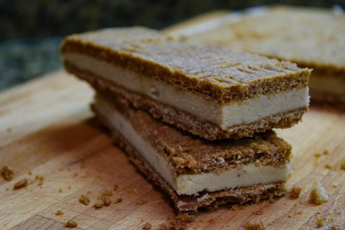 First few Peanut Butter + Banana Ice Cream Sandwiches