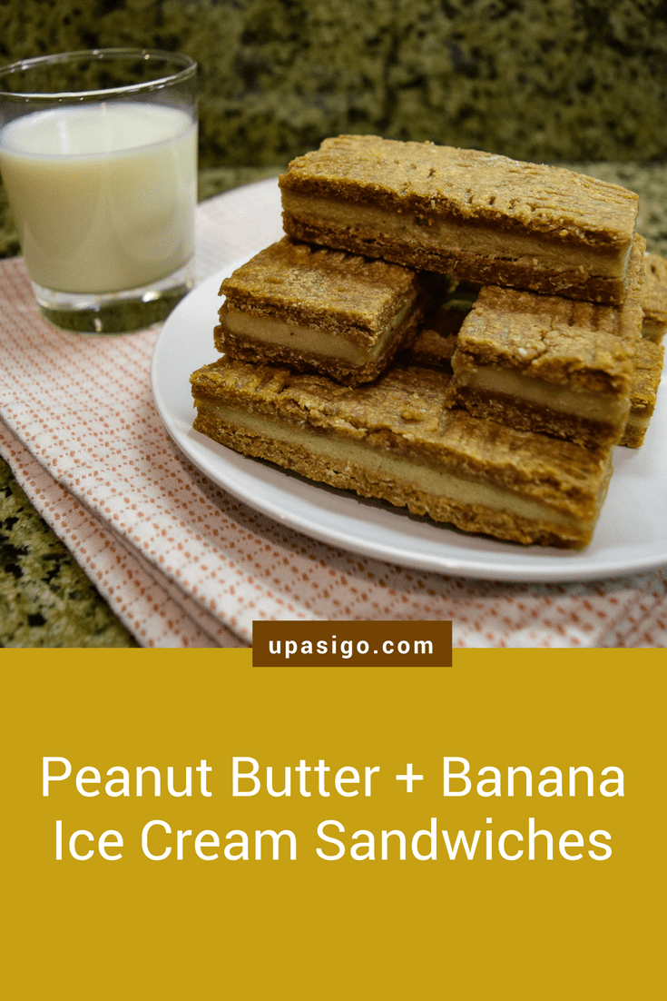 Peanut Butter + Banana Ice Cream Sandwiches