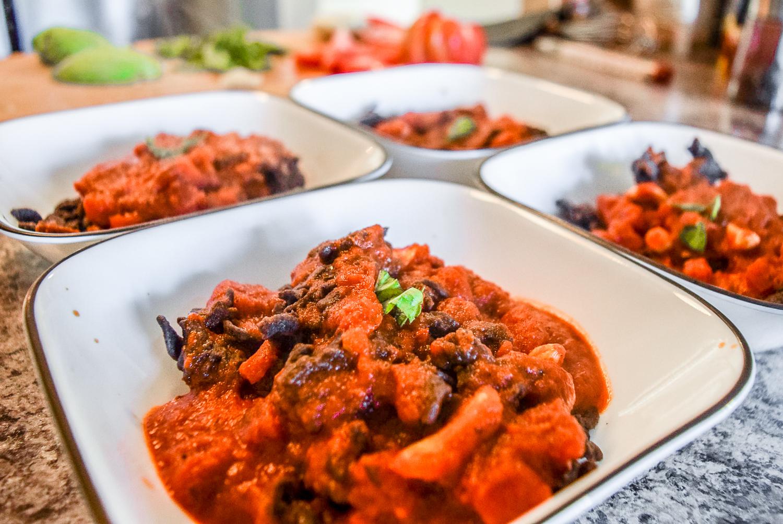 Hearty Black Bean Pasta with Marinara