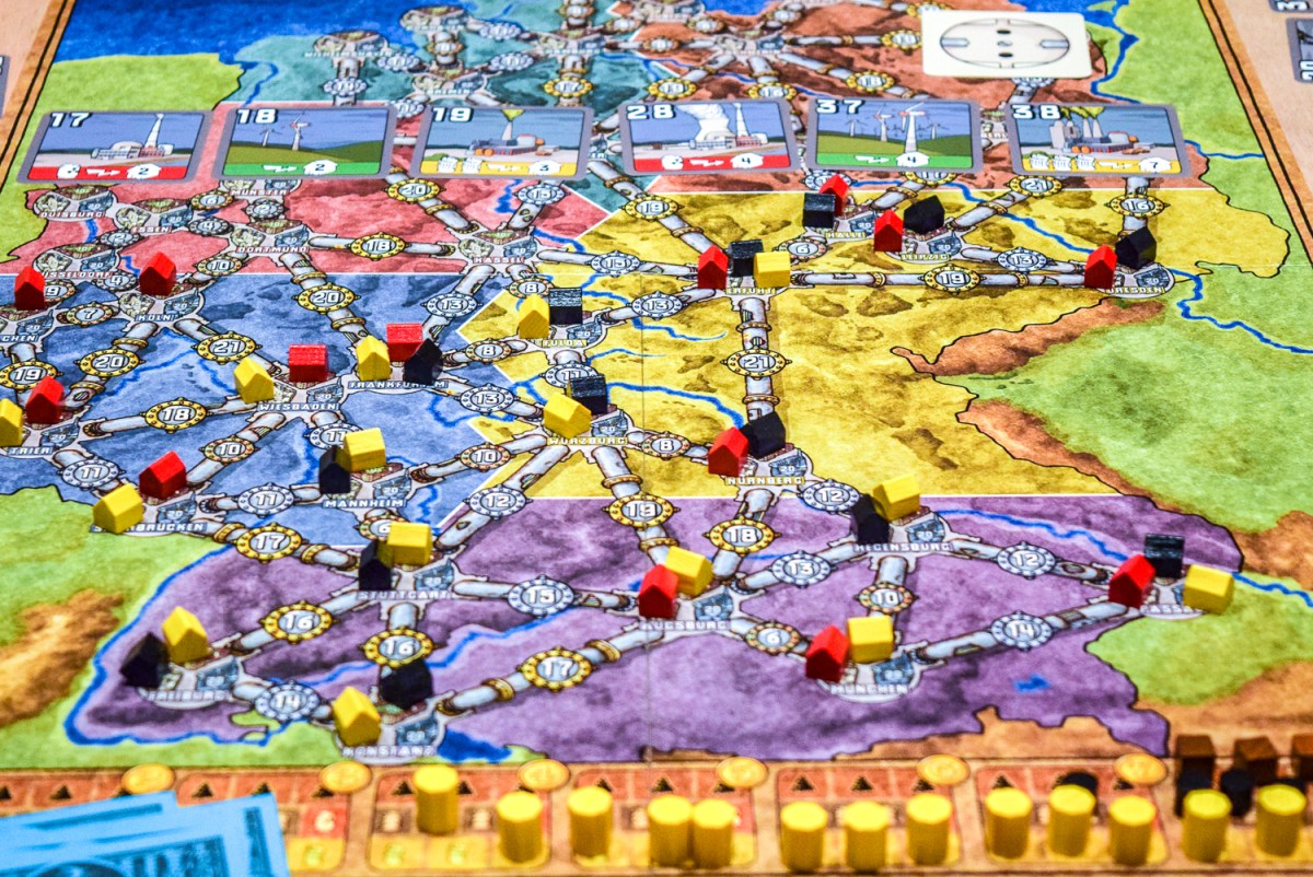 Power Grid Board Game from front angle up close