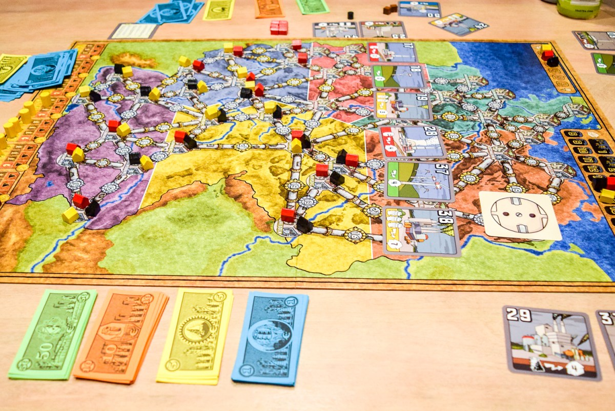 Power Grid Board Game from side