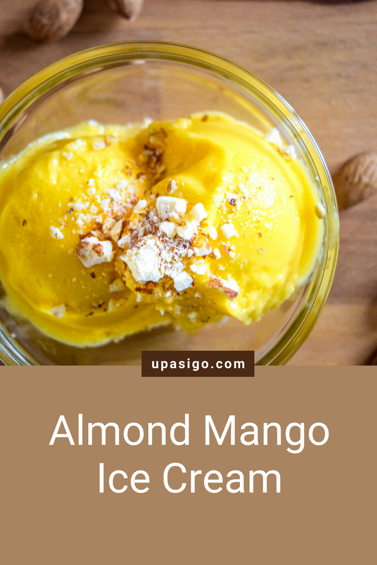 Two-Ingredient Almond Mango Ice Cream (Vegan)