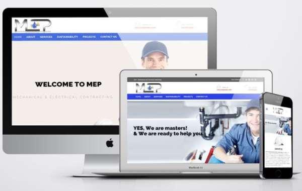 تصميم موقع شركة مقاولات - شركة MEP