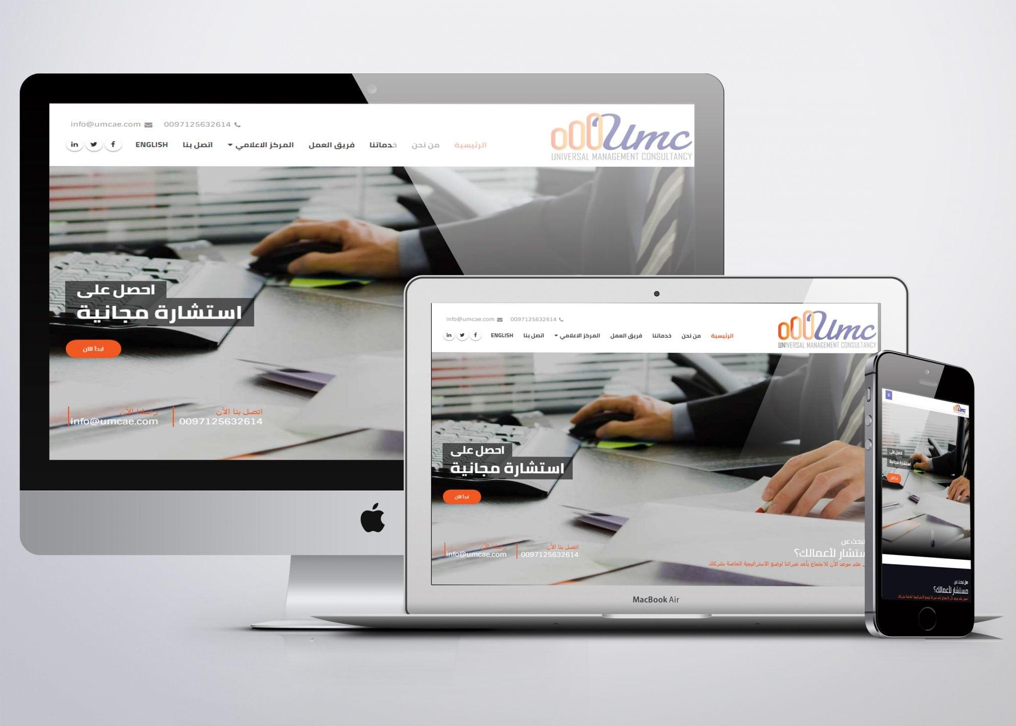 تصميم موقع مكتب استشارات محاسبية و ادارية