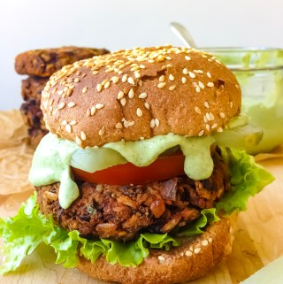 smoky black bean burgers