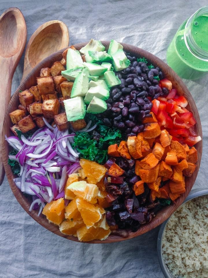 vegan santa fe salad