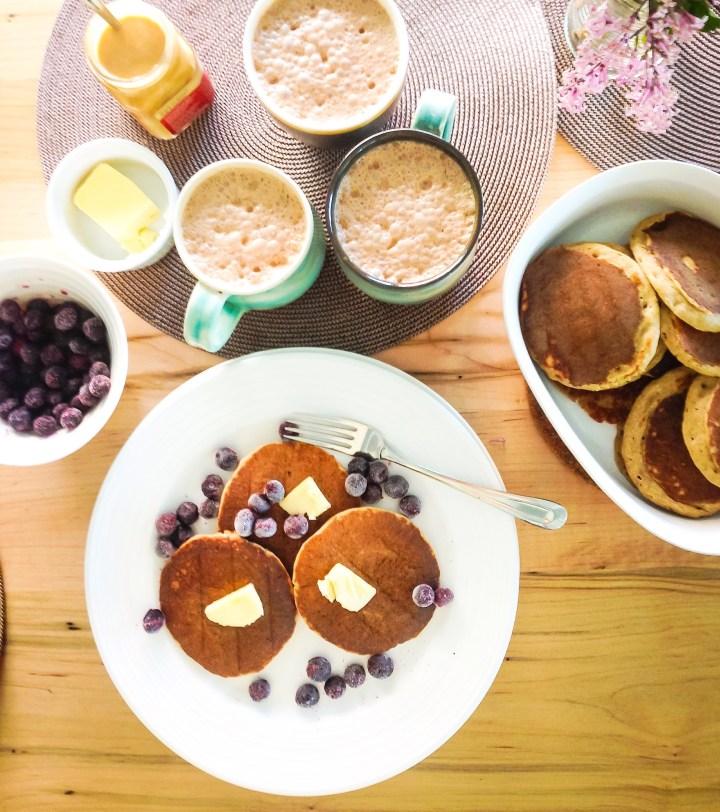 healthy banana oat pancakes