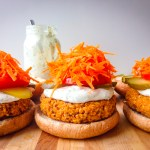 Buffalo Chickpea Burgers