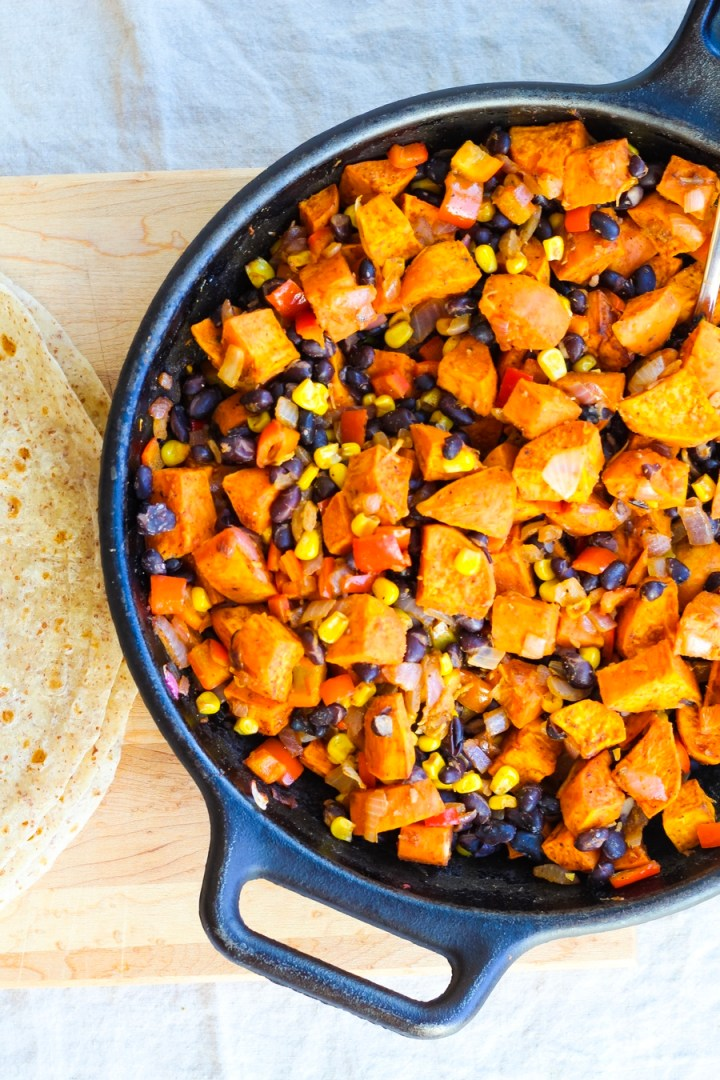 Black Bean and Sweet Potato Quesadilla Recipe