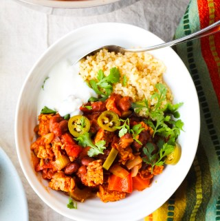 High Protein Tempeh Chili Bowl