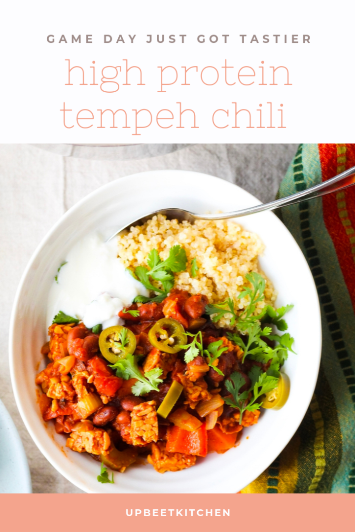 High Protein Tempeh Chili