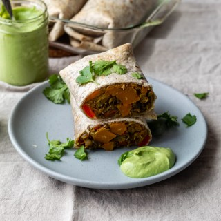 Vegan Butternut Squash and Lentil Burritos