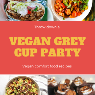 Throw the best Grey Cup Party EVER with these easy vegan recipes! Appetizers, salads, main dishes, and desserts to please vegans and omnivores alike!