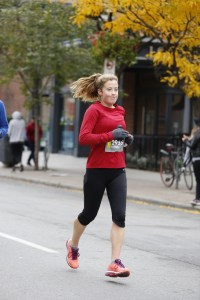 allison running in a marathon