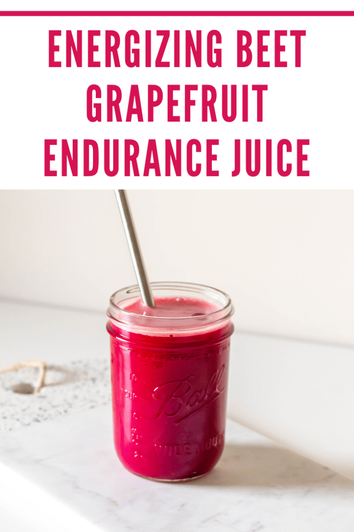 Energizing Beet Grapefruit Endurance Juice to boost vitality and enhance endurance naturally.