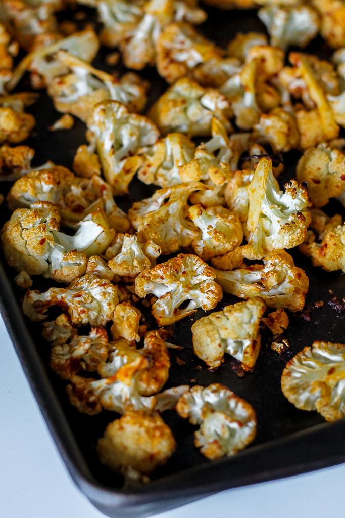 photo fo the roasted cauliflower