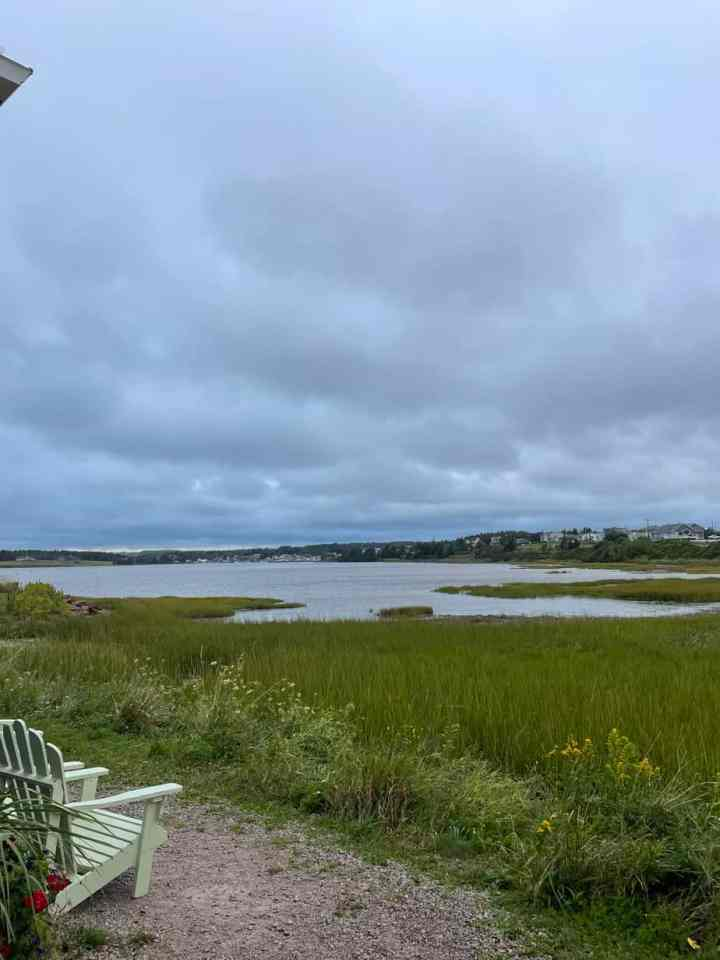 a water view in North Rustico, PEI