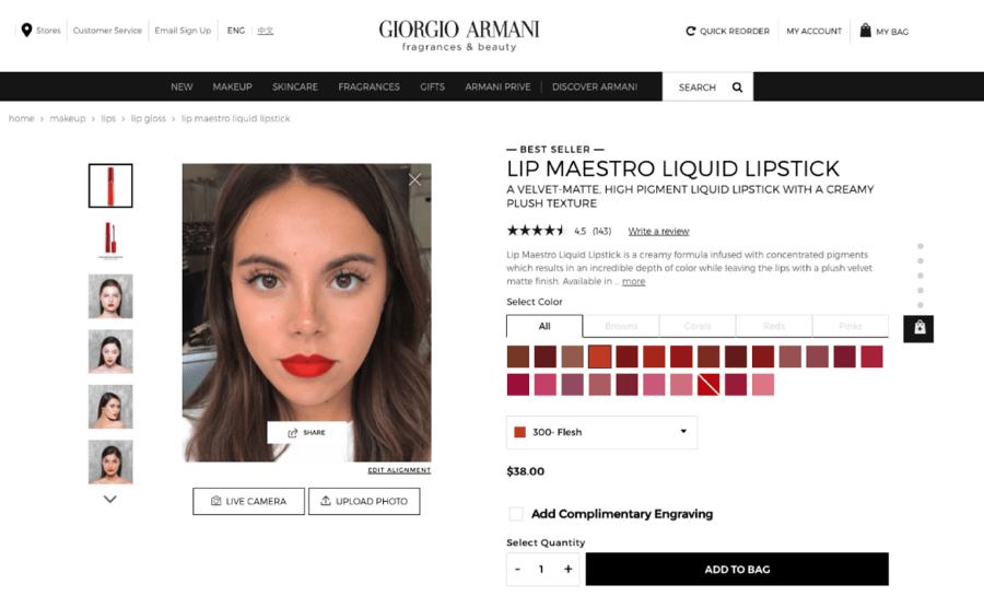 Armani e-commerce