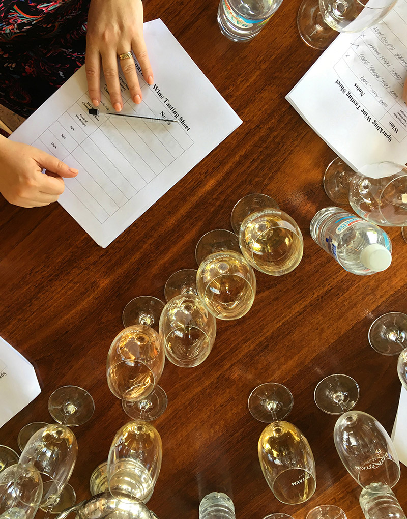 Sparkling wine masterclass at a winery in the Perth Hills wine region