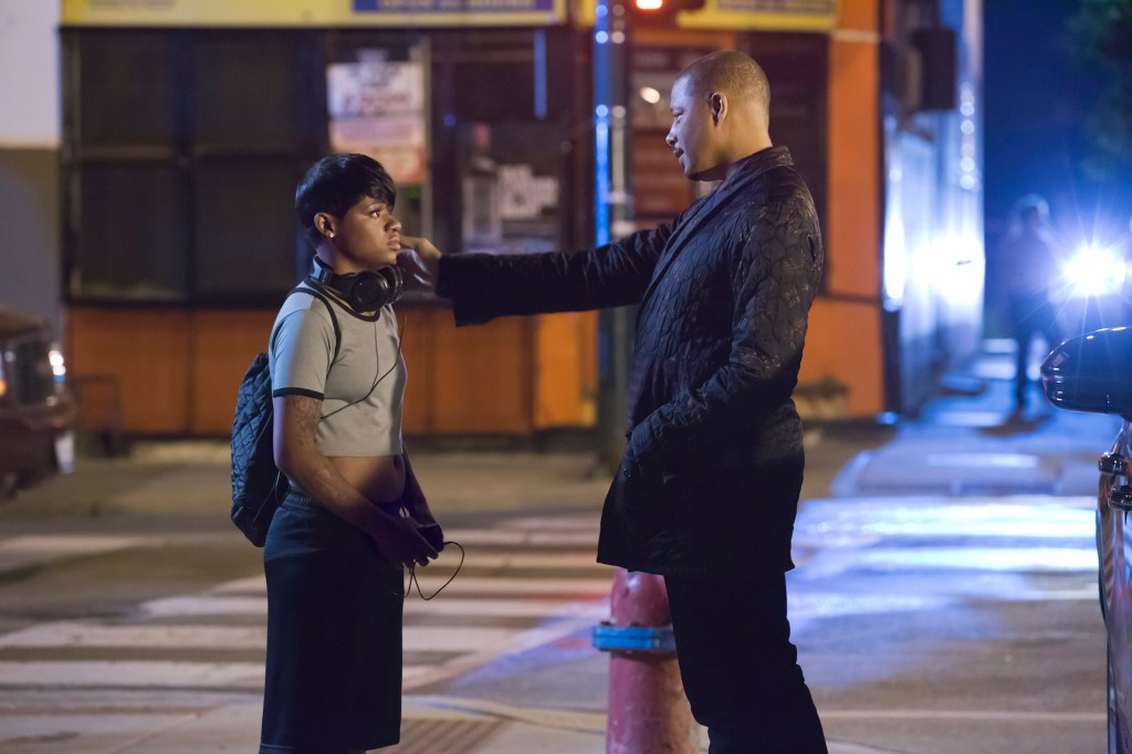 Freda Gatz with Lucious Lyon (Terrence Howard) on Empire