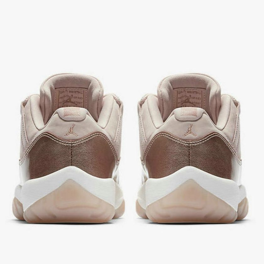 Air Jordan 11 Low Rose Gold heel counter