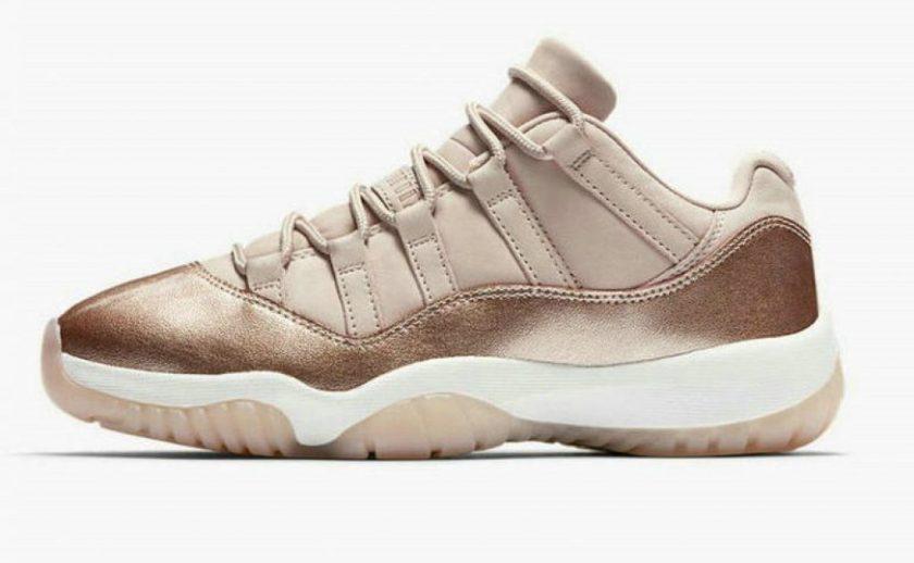 womens Air Jordan 11 Low Rose Gold