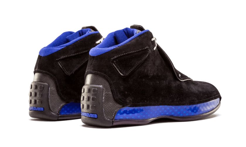 Air Jordan 18 Black Sport Royal with brilliant color scheme design