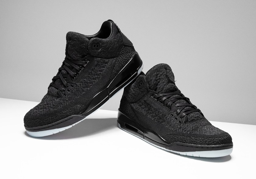 Air Jordan 3 Flyknit Black with glow dark outsoles