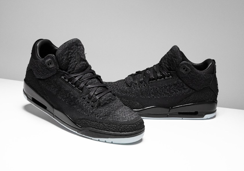 Air Jordan 3 Flyknit Black with midsole