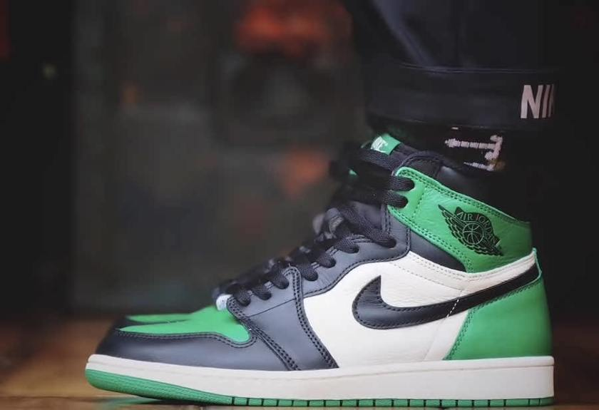 Air Jordan 1 Pine Green with Interesting use of colors