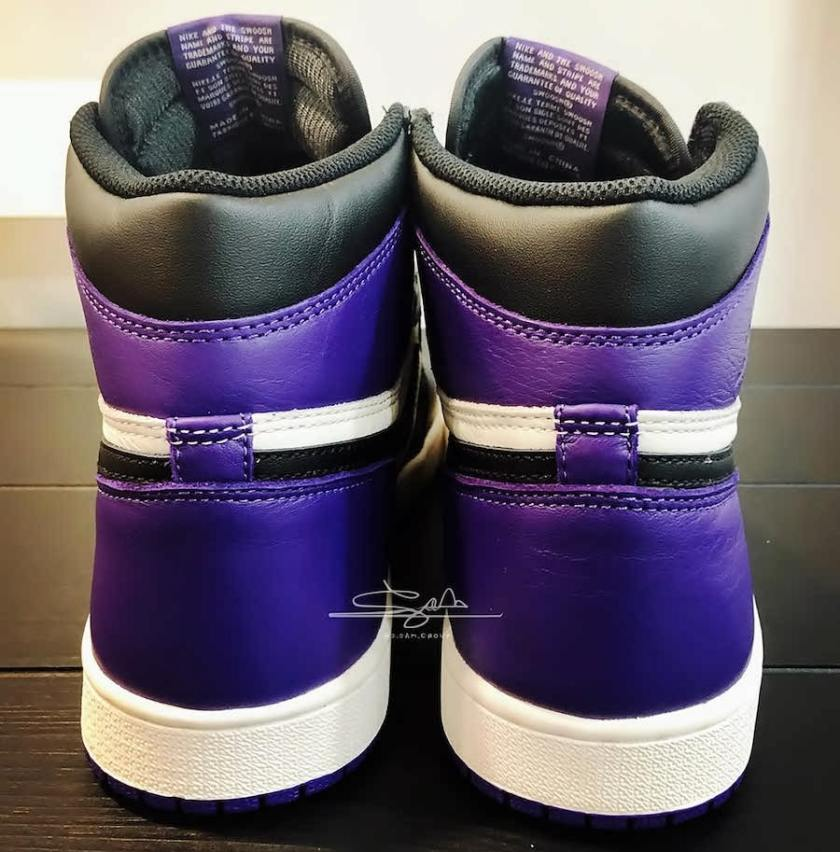 Air Jordan 1 Retro High OG Purple with mudguard and swooshes