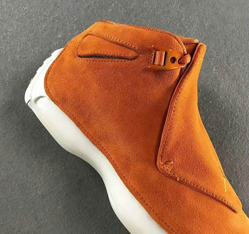 Air Jordan 18 Orange Suede with excellent durability