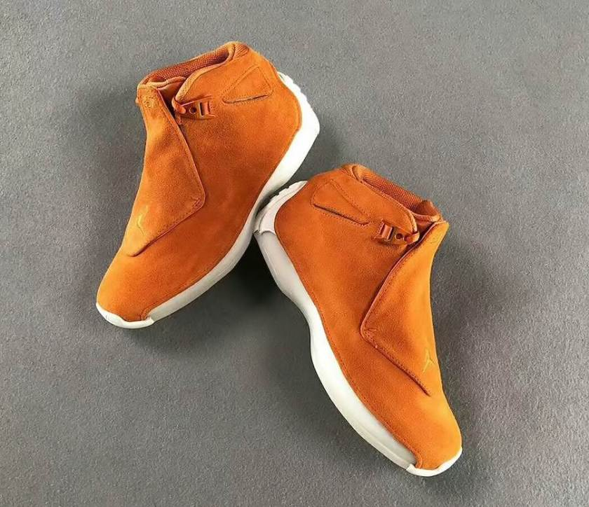 Air Jordan 18 Orange Suede with unique blend of durability and style