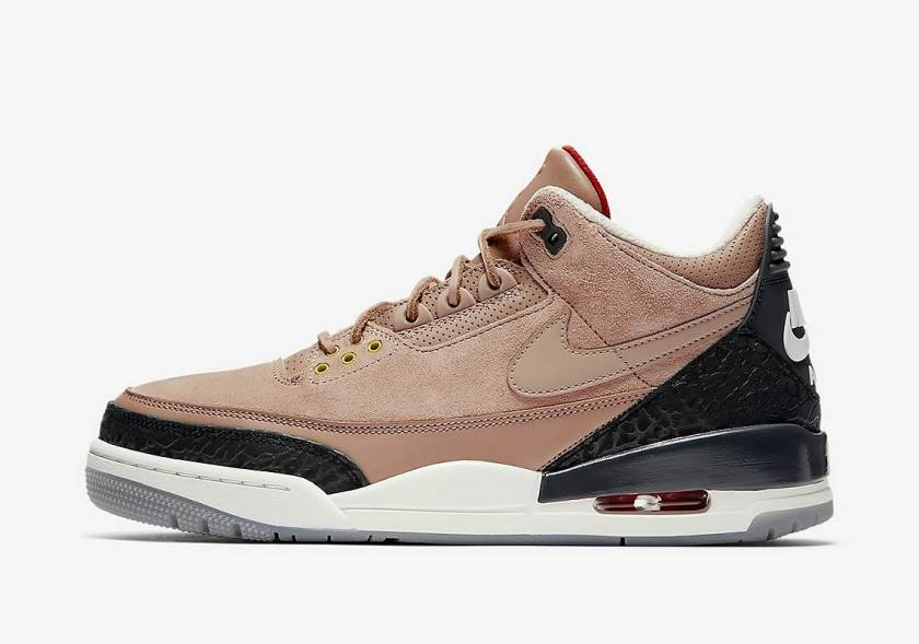 Air Jordan 3 JTH Bio Beige with yellow lace holes